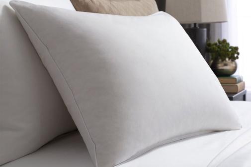 Taie d'oreiller satin de coton 50x73cm blanc des Vosges