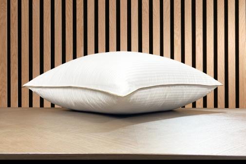Taie d'oreiller satin de coton blanc des Vosges